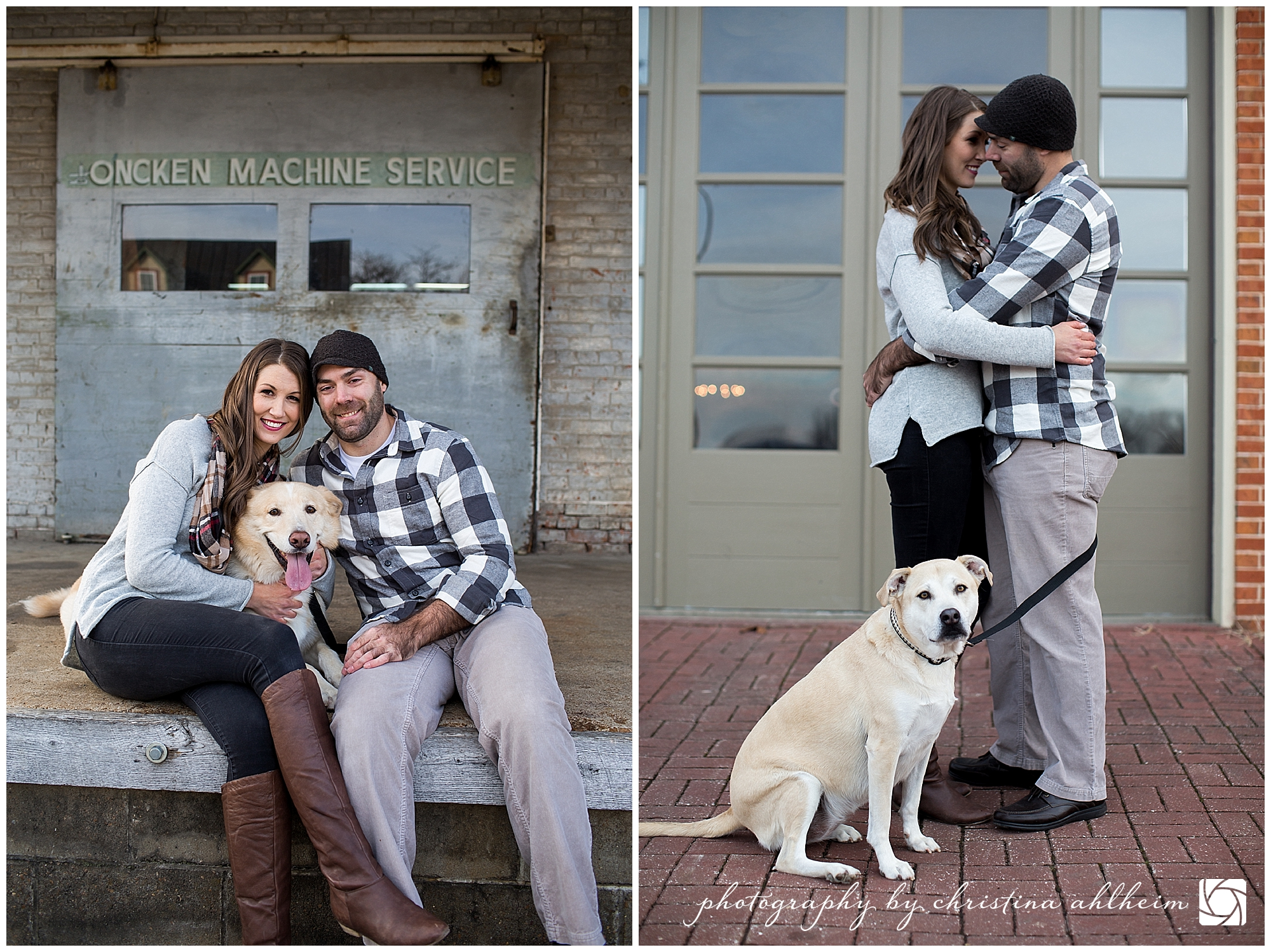 Downtown Hermann Winter Engagement Photography