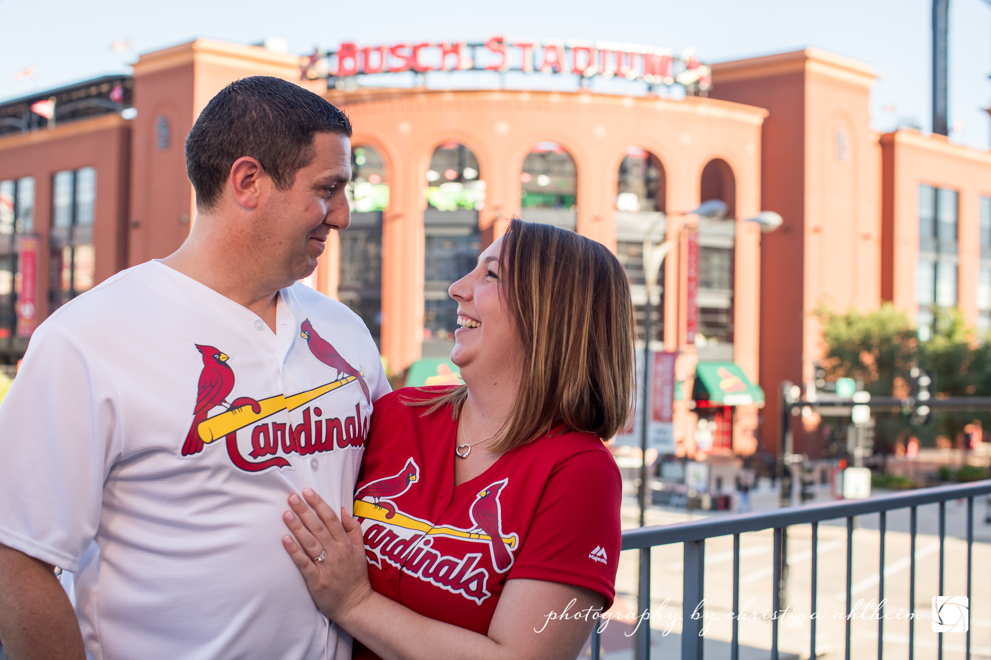 Busch Stadium and Lafayette Park Engagement Photography